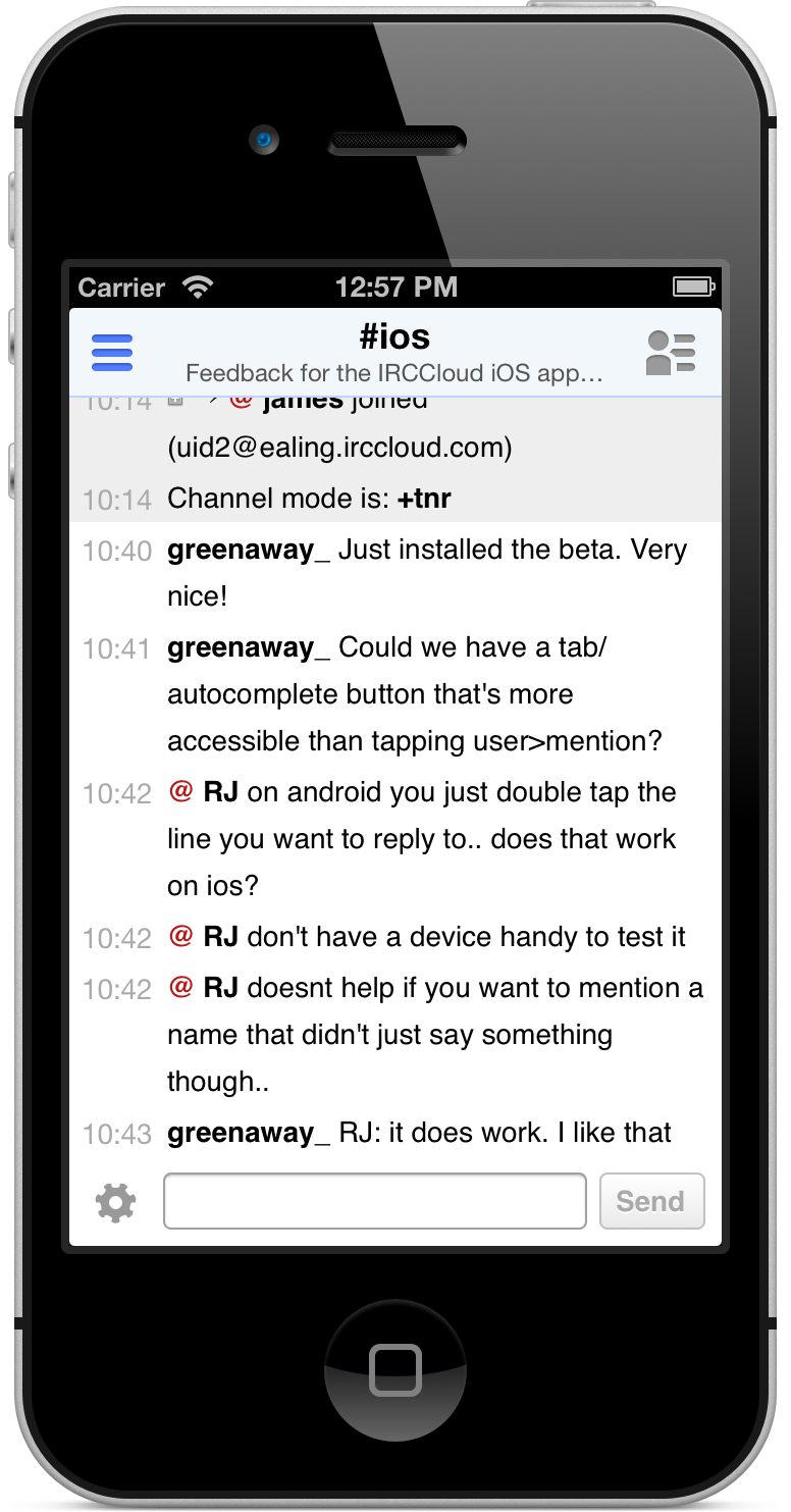 iOS Chat View