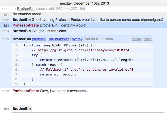Automatic Pastebins | IRCCloud Blog